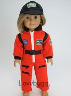 """NASA Astronaut + Hat Costume Clothes for 18"""" American Girl Doll BEST DISCOUNT"""
