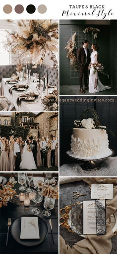 March Wedding Colors, Neutral Wedding Colors, Winter Wedding Colors, Wedding Color Schemes, Champagne Wedding Colors Scheme, Winter Themed Wedding, Elegant Wedding Colors, Modern Wedding Theme, Black Wedding Themes