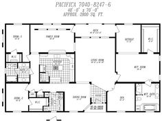 double wide mobile home plans - google search | favorite floor
