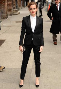 Emma Watson is totally nailin' it in this #SaintLaurent suit http://asos.to/O0ZijQ #YSL