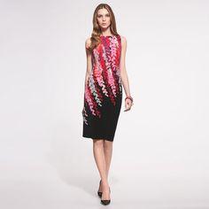 Anne Klein: Dresses > Casual > Sleeveless Side Drape Dress