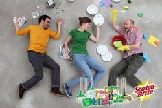 El Mejor Equipo de Limpieza comienza la semana de forma muy creativa! Scotch-Brite te ayuda a plasmar esa creatividad en la limpieza de tu casa.