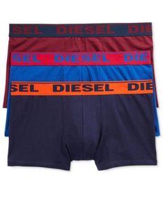 DIESEL Diesel Men'S Fresh &Amp; Bright Cotton Stretch Shawn Trunks 3 Pack. #diesel #cloth # guys