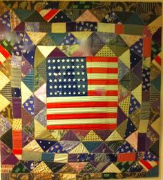 flag and crazy quilt