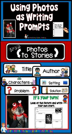 Free resource! Blog post about using photos as writing prompts.