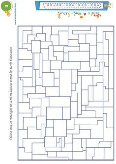 Coloriage magique 3 : rectangles et carrés - Tête à modeler