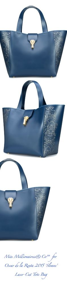 Oscar de la Renta 2015 'Sloane' Laser-Cute Top Handle Tote Bag