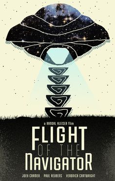 Alternate Movie Poster: Flight of the Navigator  Art Print