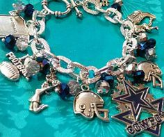 Dallas Cowboys Charm Bracelet Bracelet is 7 3/4 inches can be made to certain size upon purchase. Jewelry Bracelets