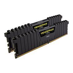 Corsair Vengeance LPX 32GB (2x16GB) DDR4 DRAM 2400MHz (PC4-19200) C14 Memory Kit - Black (CMK32GX4M2A2400C14)