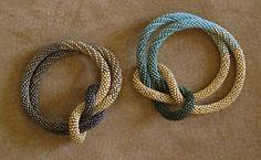 Weaver's Knot Bracelets. Gold Plate Over Glass. Claire Kahn Designs.