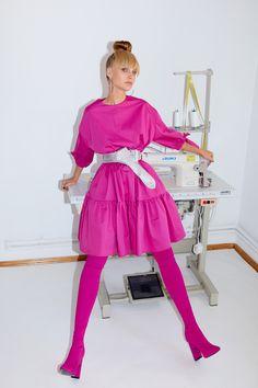 Framboise - Magenta cotton dress