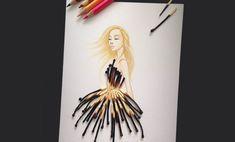 Ilustrador utiliza objetos para completar seus desenhos