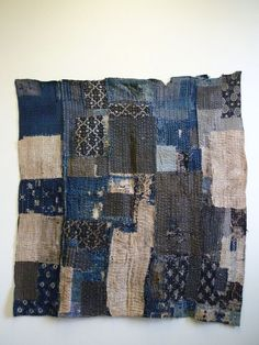 This boro or ragged textile from the mid century is intensely sashiko stitched from many layers and was used as a. Sashiko Embroidery, Japanese Embroidery, Embroidery Art, Embroidery Patterns, Embroidery Supplies, Bag Patterns, Embroidery Stitches, Boro Stitching, Make Do And Mend