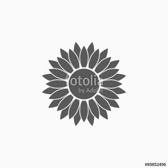 """Download the royalty-free vector """"sunflower icon"""" designed by musmellow at the lowest price on Fotolia.com. Browse our cheap image bank online to find the perfect stock vector for your marketing projects!"""
