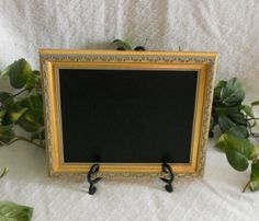 Ornate Gold Framed Chalkboard. Framed chalk by PegsSecondChance, $20.00
