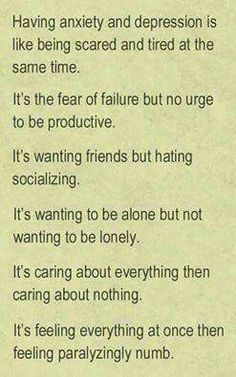 very true it describes how i feel most days. but i will get passed this