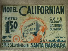 Hotel Californian Tin Sign