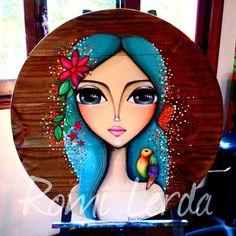 Crochet ideas that you'll love Art Pop, Fabric Painting, Painting & Drawing, Mini Canvas Art, Whimsical Art, Portrait Art, Indian Art, Cute Drawings, Cute Art