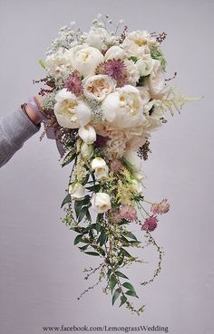 *waterfall size surcharge will be applied Cascading Wedding Bouquets, Blush Wedding Flowers, Cascade Bouquet, Bride Bouquets, Bridal Flowers, Flower Bouquet Wedding, Bridesmaid Bouquet, Floral Bouquets, Hand Bouquet