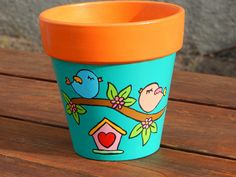Macetas Clay Flower Pots, Flower Pot Crafts, Clay Pot Crafts, Clay Pots, Painted Plant Pots, Painted Flower Pots, Pots D'argile, Wallpaper Nature Flowers, Pottery Painting Designs