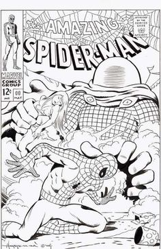 FREE Spiderman coloring pages and printable party invitations for Spiderman fans. Superhero Coloring Pages, Spiderman Coloring, Free Adult Coloring Pages, Coloring Book Pages, Coloring Pages For Kids, Coloring Sheets, Marvel Coloring, Marvel Comic Books, Marvel Comics