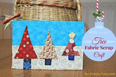 Persia Lou: Fabric Scrap Tree Craft: Guest Post by Allison from Freshly Completed, Shared on Brag About It at VMG206