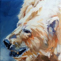 """""""Change of Course"""" by Kindrie Grove. Weekly Painting Project: Polar Bear. #art #painting #oilpainting #animals #wildlife #bear #polarbear"""
