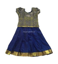 Online Shopping for Pure Soft Silk Pavadai Navy Blue and Golden Kids Pattu Pavadai, Baby Dresses, Summer Dresses, Online Shipping, Indian Lehenga, Hyderabad, Pure Silk, Indian Dresses, Special Occasion