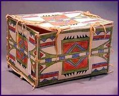 Plains Indian tribes made containers called parfleche