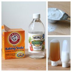 How to Wash Your Hair with Baking Soda and Vinegar - Gets rid of product buildup, the vinegar restores pH balance to your scalp, leaves hair shinier & healthier.