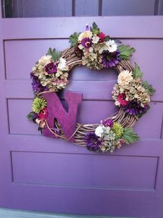 This site has some fun ideas about different wreath ideas.