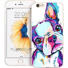 Boston Terrier Dog Clear Silicone Phone Cover for iPhone 7, 7Plus 6, 6S, 6Plus
