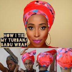 DIY -How I Tie Turban/ Badu Head Wrap Tutorial for Bad Hair Days,