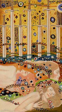 7 d'épées - Tarot de Klimt par A. Atanassov