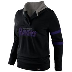 Women s Baltimore Ravens Nike Black Play Action Hooded Top 8f329b093