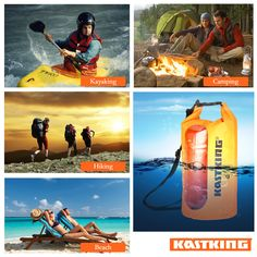 Canoe Storage ** KastKing Dry Bag Waterproof Roll Top Sack for Beach Hiking Kayak Fishing Camping and Other Outdoor Activities ** Want additional information? Click the photo. (This is an affiliate link). Kayak Camping, Canoe And Kayak, Kayak Fishing, Canoe Storage, Bag Storage, Outdoor Activities, Kayaking, Skiing, Military