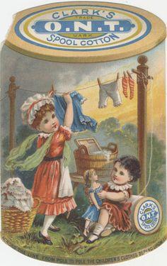 Primary AdvertiserClark's Spool Cotton  Primary Advertiser LocationNo location given.  Printer / Lithographerunknown  Date.originalca. 1900