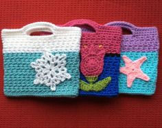 Girls Crochet Disney Character Purse- Frozen's Elsa & Anna and Ariel Inspired! Matching Hats Available!