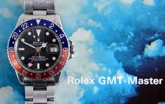 Selling for £7,500 - A gentleman's stainless steel Rolex Oyster Perpetual GMT Master bracelet wristwatch