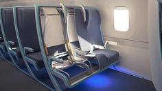 MORPH Adaptable airline seating design for economy.