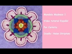 CAL Mandala Madness 1 paso a paso en español - YouTub Crochet Diy, Crochet Skirts, Crochet Home, Love Crochet, Crochet Flowers, Crochet Mandala Pattern, Crochet Videos, Baby Knitting, Free Pattern