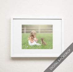 Standing Little Bunny | Easter Collection  | Digital Photography Backdrop