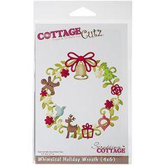 CottageCutz Whimsical Holiday Wreath Die - http://www.specialdaysgift.com/cottagecutz-whimsical-holiday-wreath-die/
