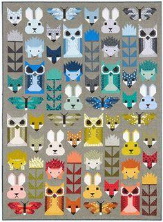 Fancy Forest - Original Fancy Forest Kit (Fabric Only) - Elizabeth Hartman for Robert Kaufman Fabrics (EH-FFKITFAB)