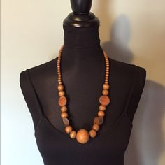 """Selling this """"Camel wooden necklace"""" in my Poshmark closet! My username is: jacky1990. #shopmycloset #poshmark #fashion #shopping #style #forsale #Jewelry"""