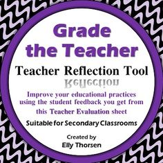 Get valuable feedback from your students about your teaching practices with this Teacher Evaluation