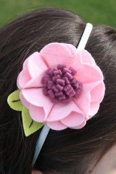 フェルトでできる♬手作り髪飾りの作り方❤︎