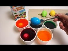 Easter Egg Coloring - Decorating with Rice - DIY Shake It Video - YouTube