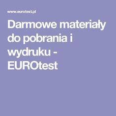 Darmowe materiały do pobrania i wydruku - EUROtest